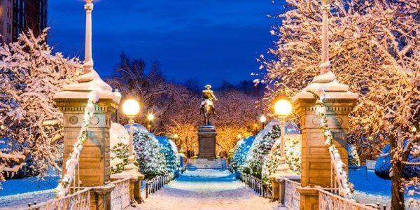 Christmas Shopping in Boston